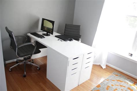 2 person workstation desk ikea minimalist two person desk ikea hackers ikea hackers