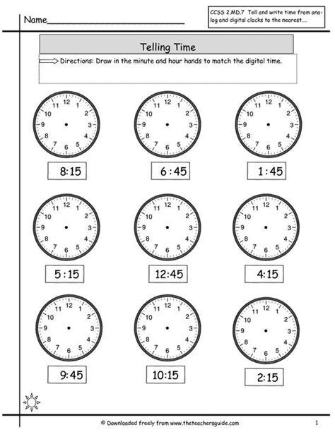 clock worksheets quarter after telling time on pinterest
