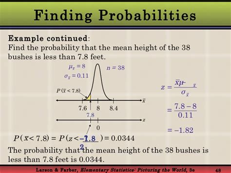 Finding The In Normal Probability Distribution