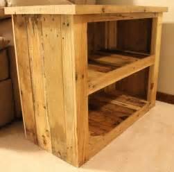 wood pallet furniture diy pallet side table with storage shelves pallet