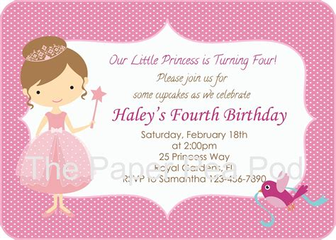 princess themed birthday invitation templates princess birthday invitation templates cloudinvitation