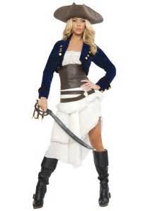 Deluxe foxy buccaneer costume ladies sexy pirate halloween costumes