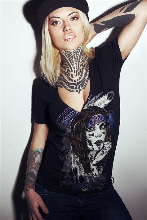 tattooed models teya salat model official site
