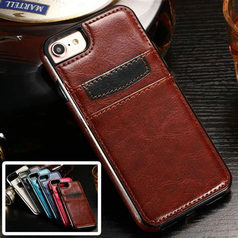 Iphone 7 Iphone7 Soft Leather Casing Cover Bumper Armor Keren aliexpress buy for iphone 7 luxury card slots
