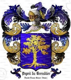 papeil du tremblier armoiries blason etymologie et