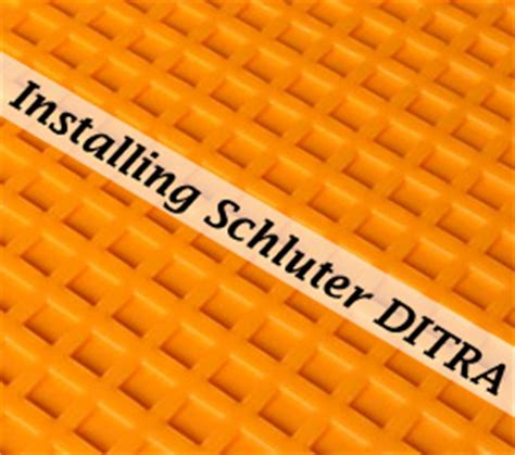 How Thick Is Ditra Mat by How To Install Schluter Ditra Tile Underlayment One