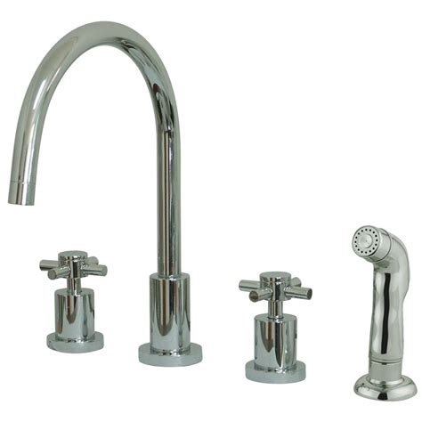 kingston brass kitchen faucets kingston brass ks8721dx concord widespread kitchen faucet
