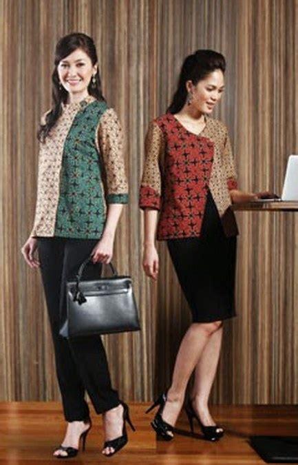 Atasan Top Blouse Wanita Kerja Kantor Resmi Formal Casual Katun Simple model baju batik wanita untuk kerja ide model busana