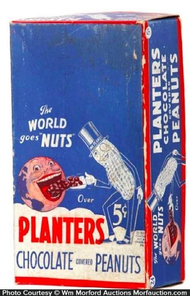 antique advertising planters chocolate peanuts box