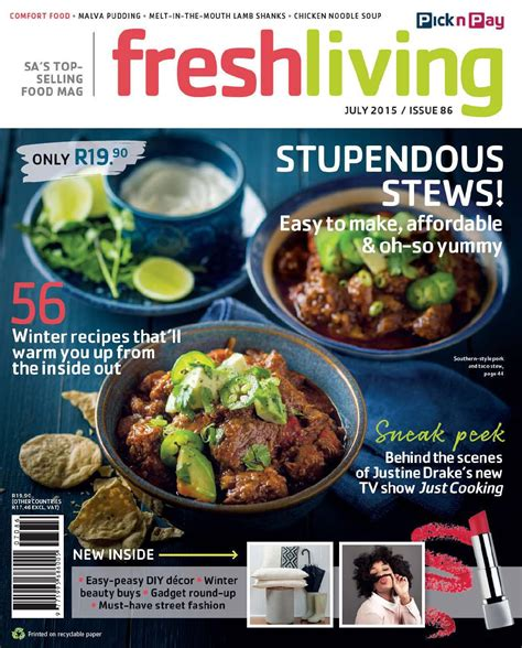 fresh living fresh living july 2015 by pick n pay issuu