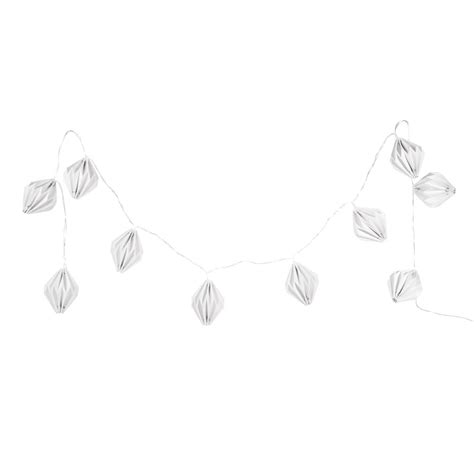 White Origami Paper Uk - origami white luminous paper garland l 165cm maisons du