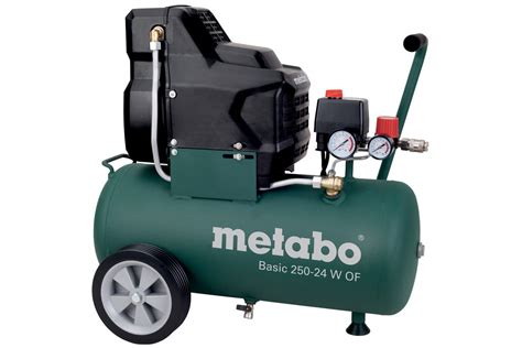 basic 250 24 w of 601532180 compressor basic metabo power tools