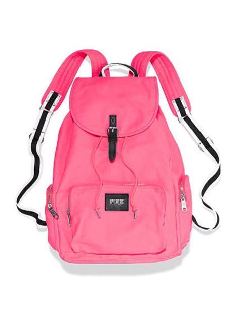 s secret pink backpack neon pink