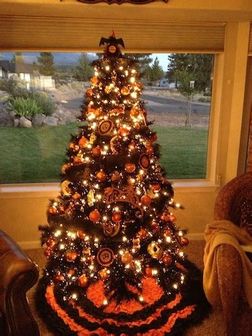 halloween trees with orange lights halloween trees with orange lights festival collections