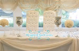 Bride And Groom Chair Covers Luxury Throne Chairs For Sweetheart Table