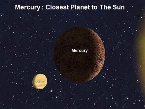 Planet Closet To Sun by Manash Subhaditya Edusoft Mercury The Closest Planet