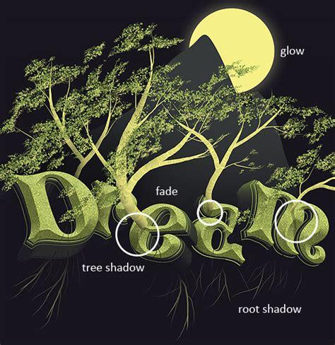 typography tree tutorial 3d typography tutorial
