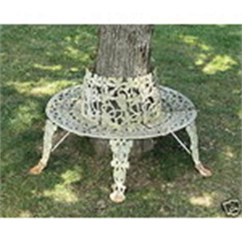 cast iron tree bench antique cast iron tree bench wrought vintage no reserve