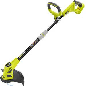 home depot trimmers ryobi reconditioned one 18 volt lithium ion hybrid
