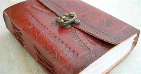 Handmade Diary Book - special leather journal blank journal scrap book
