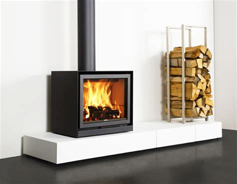 contemporary wood burning stoves on wood