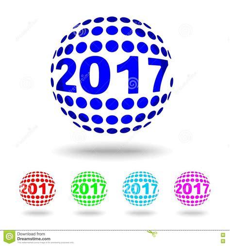 new year design logo happy 2017 new year logo vector illustration