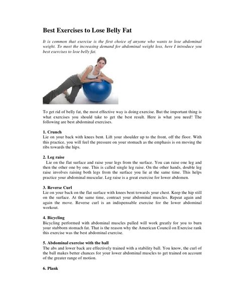 best exercises to lose belly