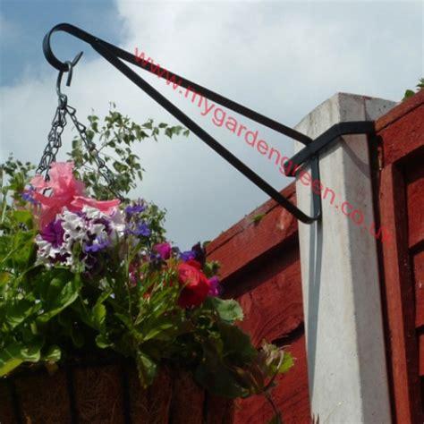 Hanging Basket Brackets For L Posts by Hanging Basket Bracket X 2 For Concrete Post