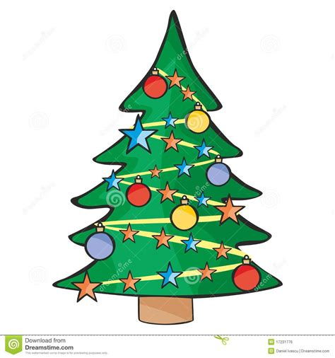 illustration of isolated christmas tree stock vector
