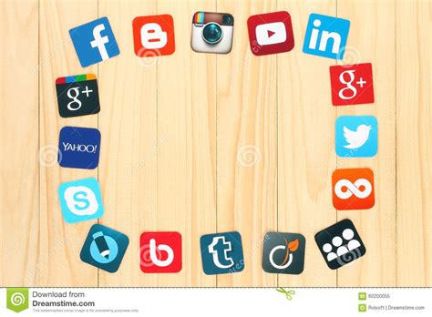 tumblr themes with facebook and twitter buttons famous social media icons editorial image image of around