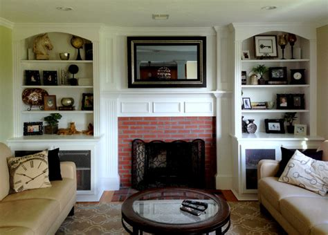 Hide Tv In Living Room by Tv Mirror To Hide 40 Quot Tv Traditional Living Room