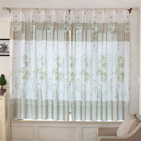 sheer curtains living room 2016 new for 11 11 bamboo print sheer window curtains for living room bedroom really in