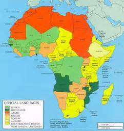 Language Map Of Africa by Map Of Languages In Africa