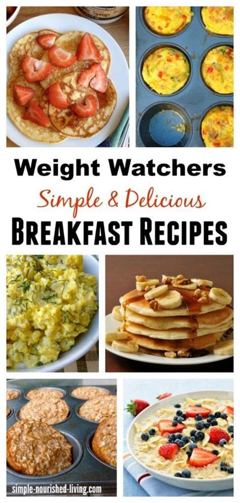 weight watchers cookbook and easy smart points recipes for rapid weight loss and a healthy lifestyle books 25 best ideas about weight watcher breakfast on