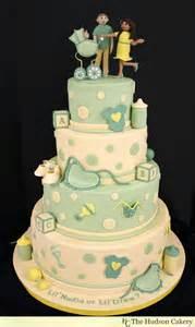 gender neutral ivory baby shower cake the hudson