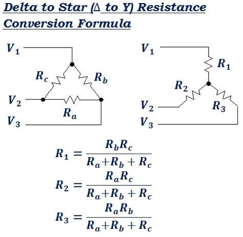 find the equivalent resistance ra of the resistor network delta to equivalent resistance conversion formula calculator