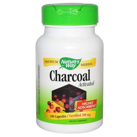 activated charcoal for dogs nature s way charcoal activated 280 mg 100 capsules iherb