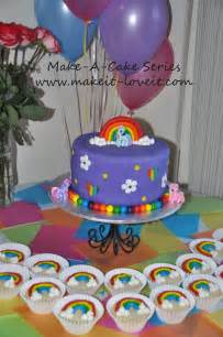 my pony cake decorations make a cake series my pony cake and rainbow