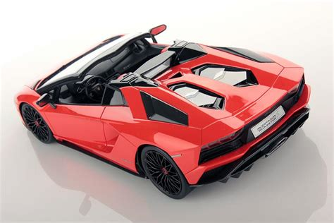 lamborghini aventador s roadster orange lamborghini aventador s roadster orange 1 18 scale mr collection ebay