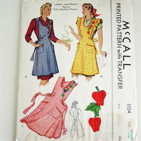 pattern for quilted apron vintage apron patterns vintage apron pattern 1940 s