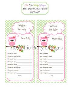 items similar to baby shower cards baby shower advice cards owl advice cards to be