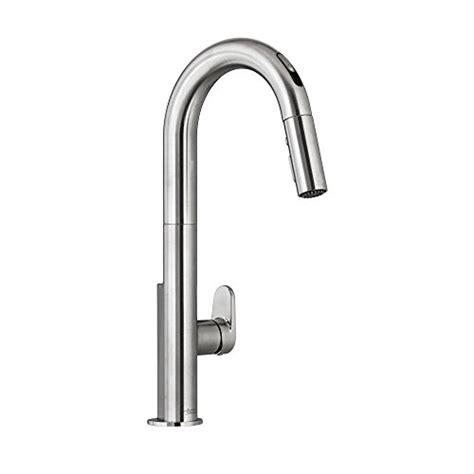 beale pull down kitchen faucet with selectronic hands free american standard nickel pull down faucet nickel american