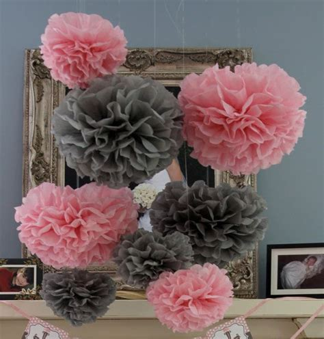 Personalized Baby Shower Decorations by 3 Great Idea For Pink And Grey Baby Shower Decorations