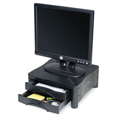 Computer Monitor Stand With Drawer by Printer