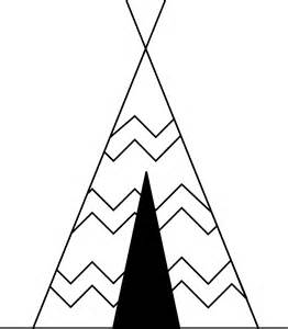Teepee Tents Coloring Page Pages sketch template