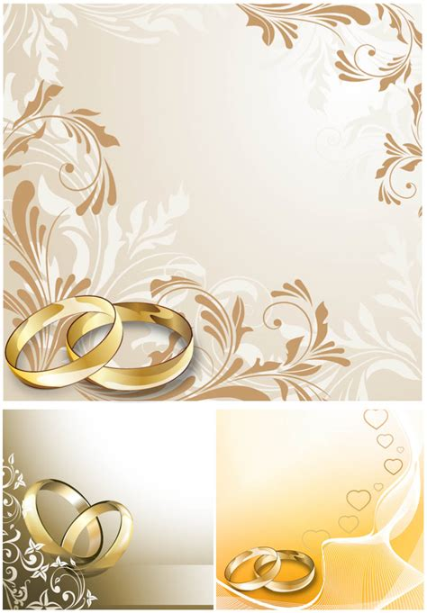 wedding sts for card wedding cards with wedding rings vector free