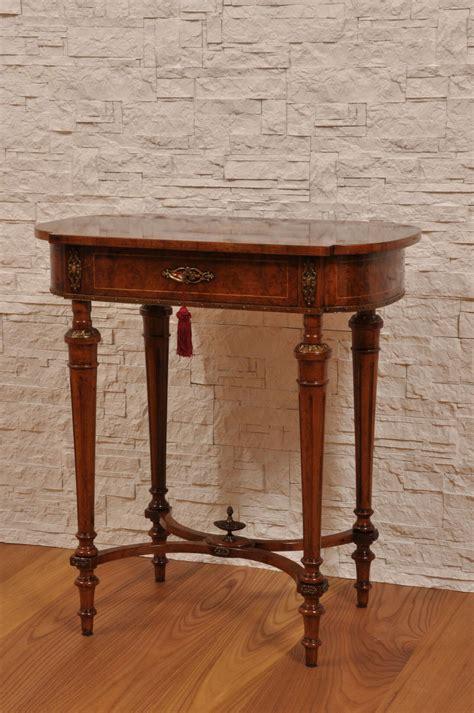 cassetto inglese pregiato tavolino da salotto intarsiato in radica con 1