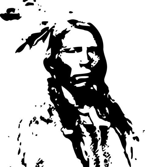 imagenes de indios en blanco y negro free vector graphic indian chief indian chief free