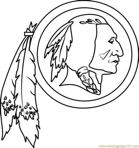 washington redskins logo coloring page  nfl coloring