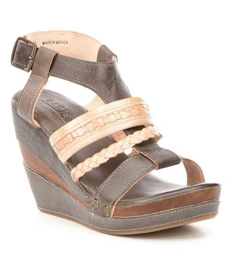 bed stu sandals bed stu jaslyn braided wedge sandals lyst